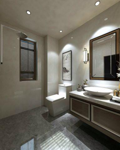 卫生间洗漱台新中式风格装饰设计图片