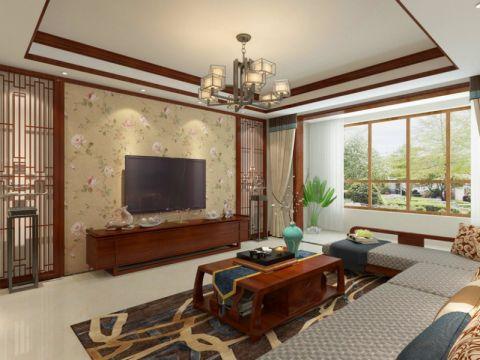 151平米三室两厅两卫简中风格装修效果图