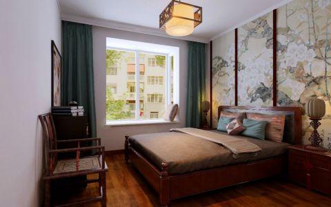 卧室床简中风格装饰设计图片