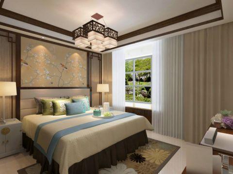 卧室床简中风格装潢设计图片