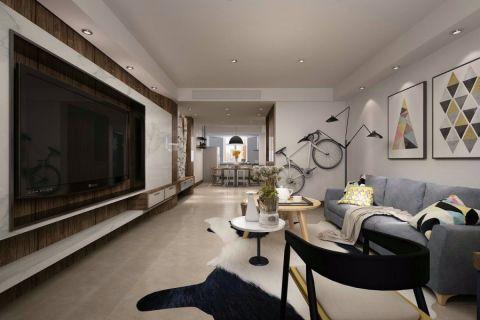 151平米三室两厅两卫现代风格装修效果图