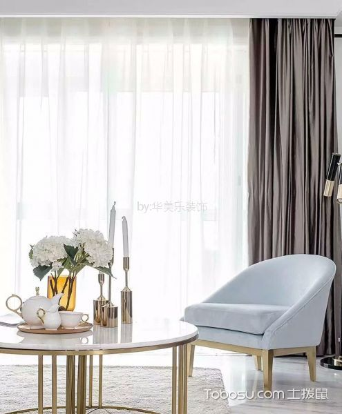 客厅白色茶几新古典风格效果图