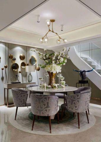 餐厅餐桌后现代风格装潢设计图片