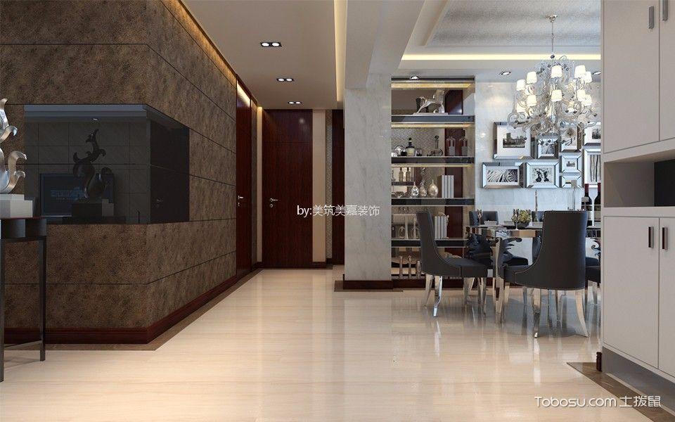 玄关灰色照片墙现代风格装潢效果图
