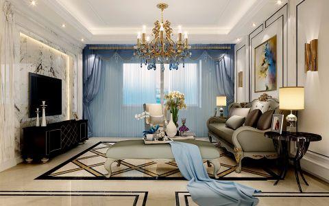 端木华庭118平米欧式风格三居室装修效果图
