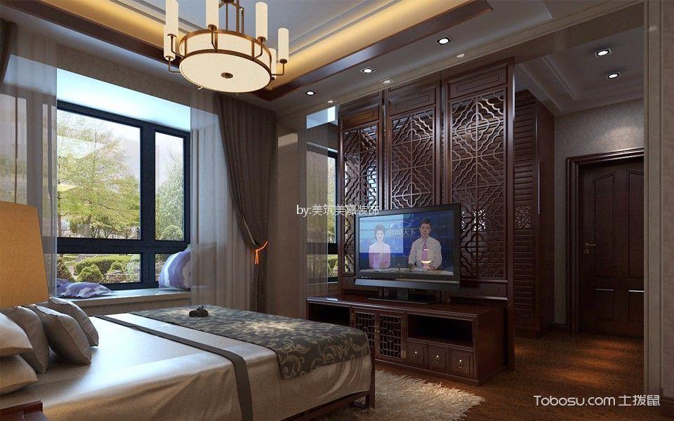 卧室_京华城210平米中式风格五居室装修效果图