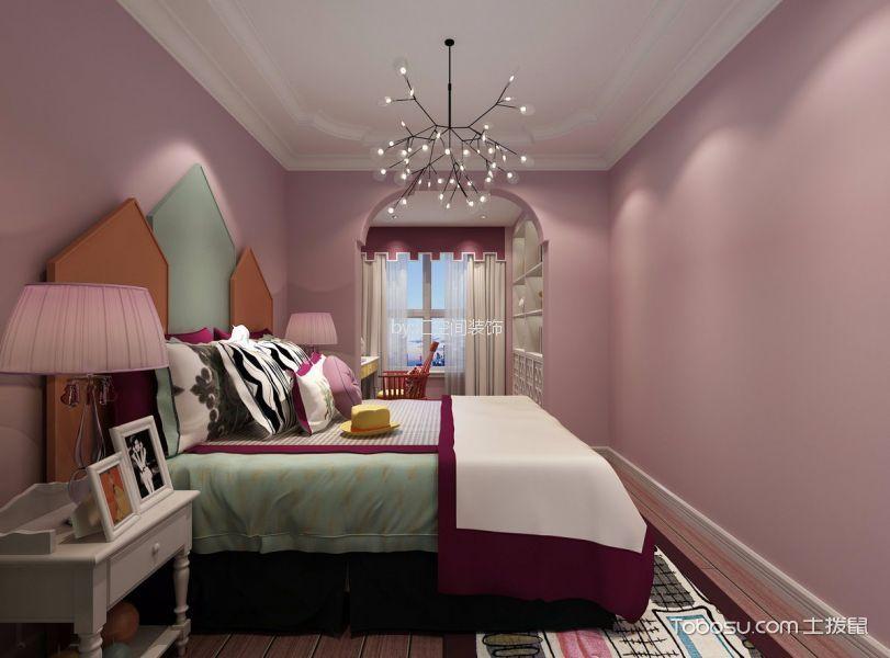 卧室灰色床简欧风格装修设计图片