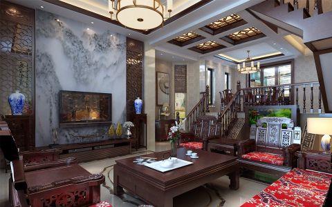 京华城210平米中式风格五居室装修效果图