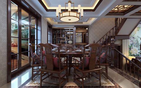 餐厅餐桌中式风格装潢设计图片