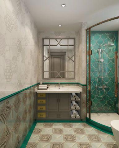 卫生间地砖简欧风格装潢图片