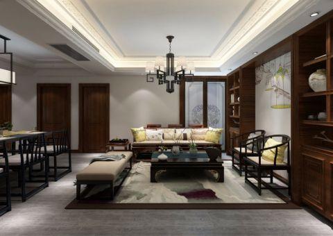 89平米两室两厅一卫新中式风格装修效果图