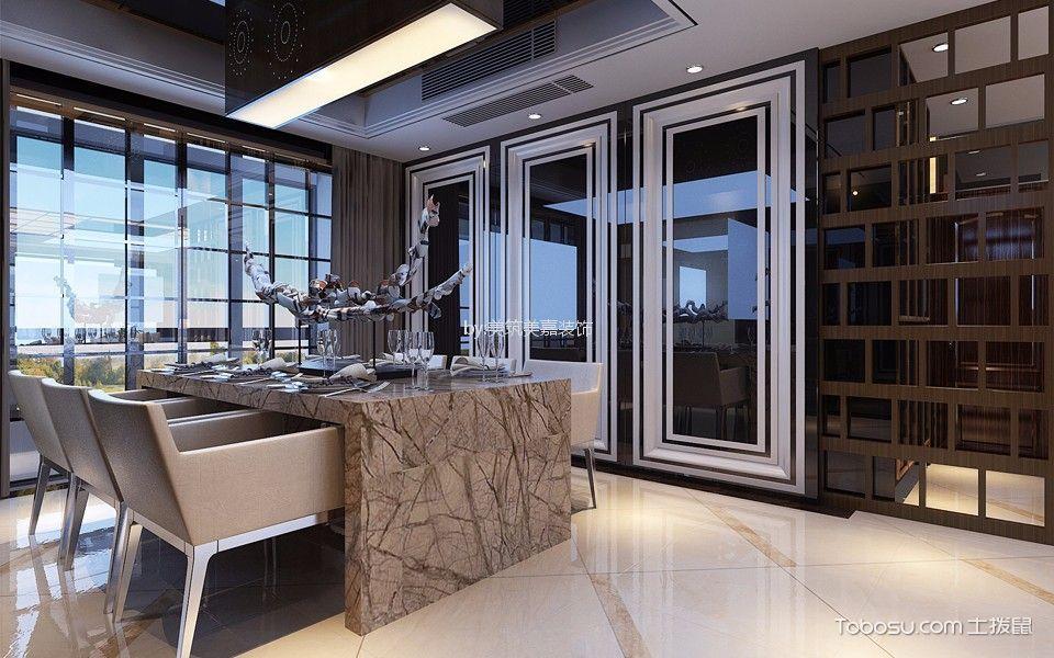 餐厅灰色背景墙后现代风格装修效果图