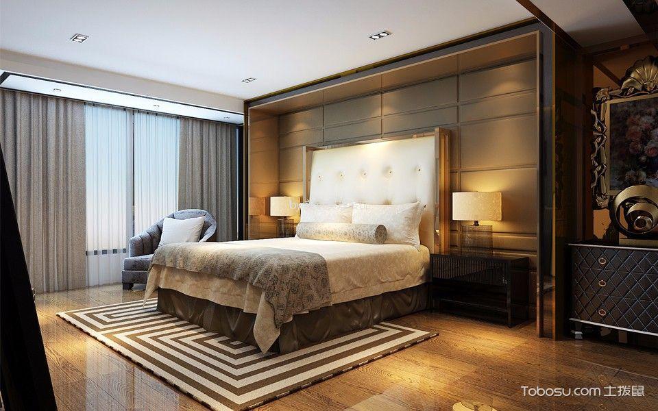 卧室咖啡色背景墙后现代风格装饰效果图