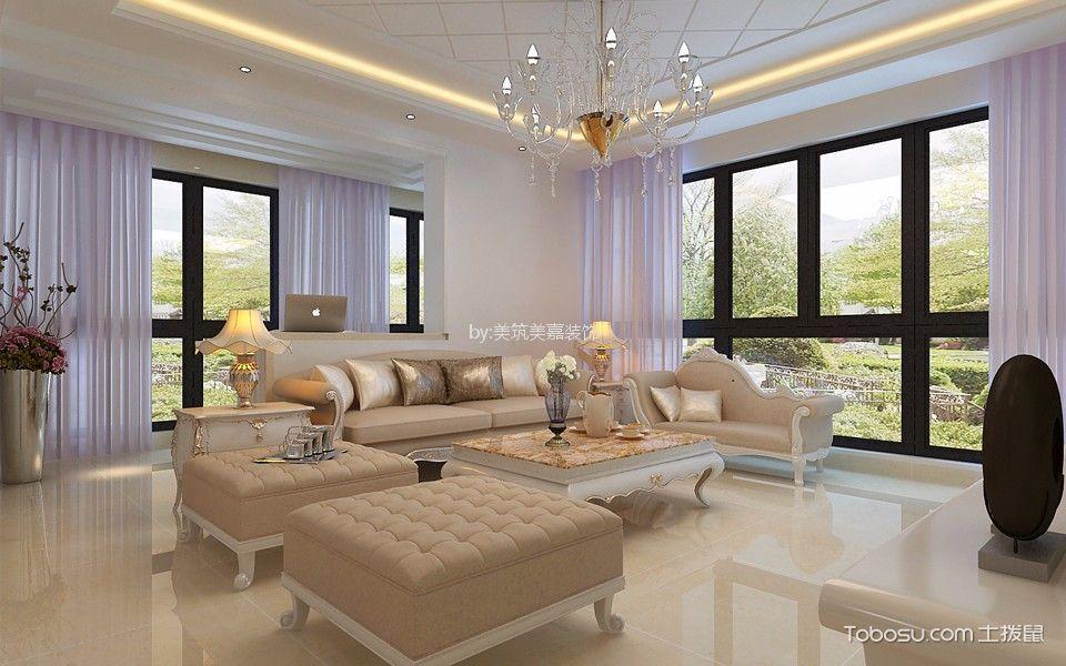 财富广场110平米简约风格三居室装修效果图
