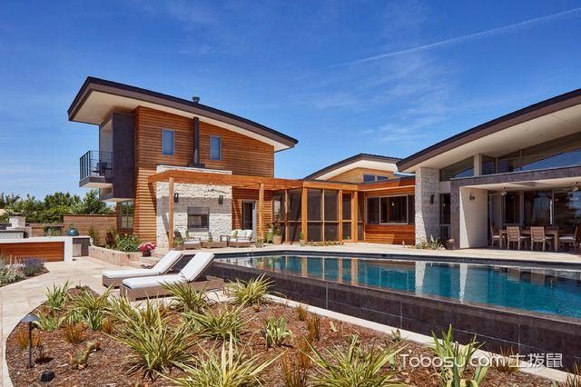 别墅泳池现代装修外景取暖怎么图片德国图片
