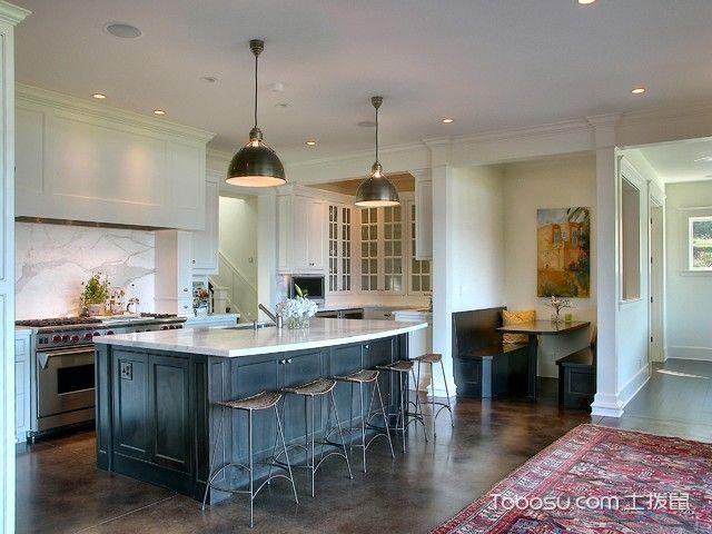 厨房米色隔断美式风格装修效果图