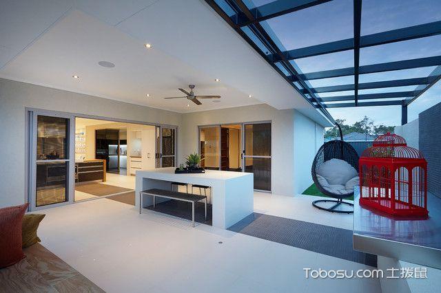阳台白色吧台现代风格装饰效果图