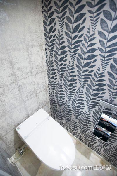 卫生间灰色背景墙日式风格装饰设计图片