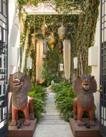 花园走廊混搭风格装饰设计图片