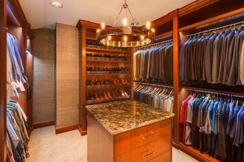 衣帽间橱柜美式风格装潢设计图片
