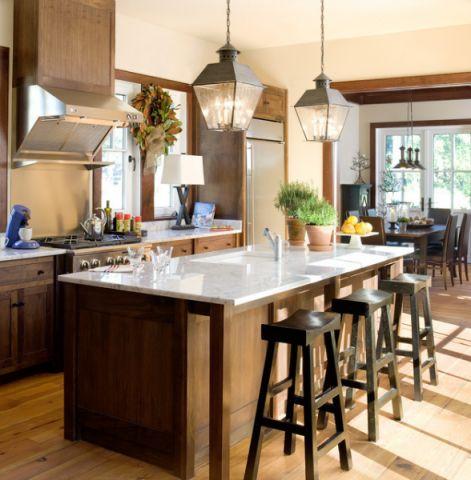 厨房咖啡色细节简欧风格效果图
