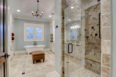 卫生间白色细节美式风格装饰效果图