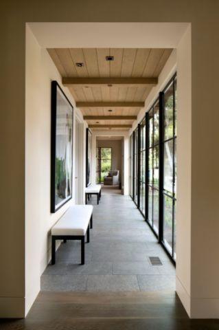 外景白色走廊现代风格装饰效果图