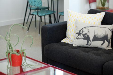 客厅黑色细节混搭风格装潢设计图片