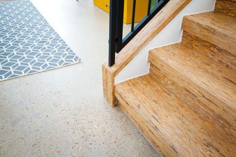 玄关咖啡色楼梯混搭风格装潢效果图