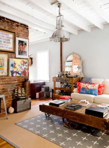 客厅白色灯具混搭风格效果图