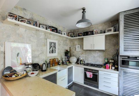 厨房背景墙混搭风格效果图