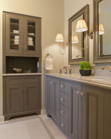 自然写意美式风格浴室装修效果图_土拨鼠2017装修图片大全