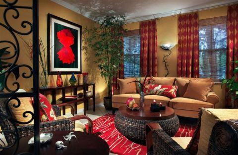 客厅简欧风格效果图大全2017图片_土拨鼠温暖奢华客厅简欧风格装修设计效果图欣赏
