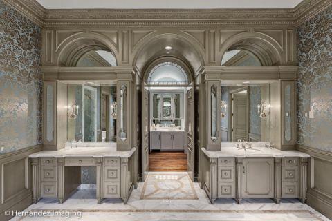 浴室简欧风格效果图大全2017图片_土拨鼠极致迷人浴室简欧风格装修设计效果图欣赏