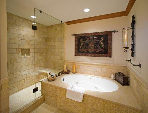 浴室地中海风格效果图大全2017图片_土拨鼠温馨摩登浴室地中海风格装修设计效果图欣赏