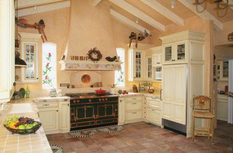 厨房地中海风格效果图大全2017图片_土拨鼠豪华富丽厨房地中海风格装修设计效果图欣赏