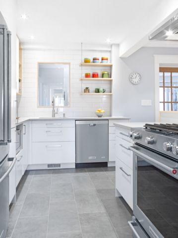 厨房北欧风格效果图大全2017图片_土拨鼠时尚淡雅厨房北欧风格装修设计效果图欣赏
