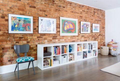 客厅照片墙混搭风格装修设计图片