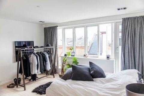 卧室北欧风格效果图大全2017图片_土拨鼠现代淡雅客厅北欧风格装修设计效果图欣赏