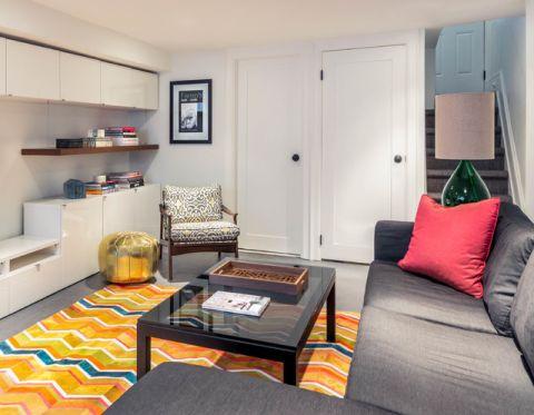 客厅门厅混搭风格装潢效果图