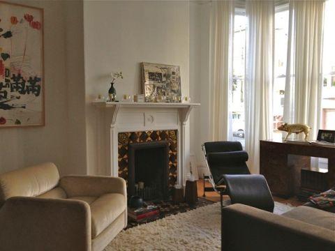 客厅米色窗帘混搭风格装修图片