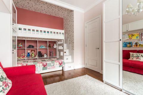 儿童房背景墙混搭风格装饰图片