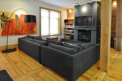 客厅照片墙现代风格装修图片