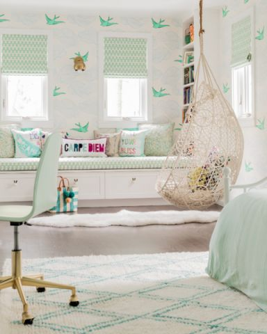儿童房飘窗现代风格装潢设计图片