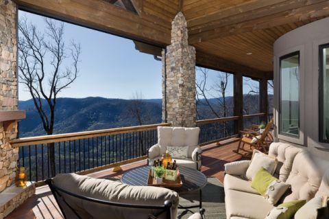 阳台细节美式风格装潢图片