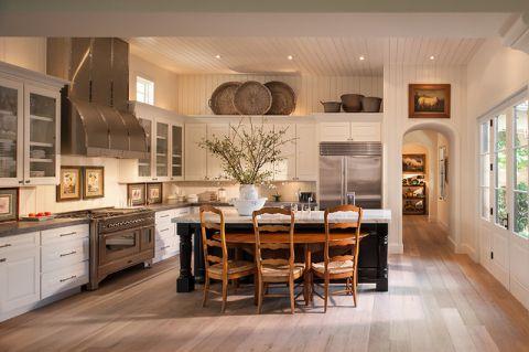 厨房白色橱柜美式风格装修图片
