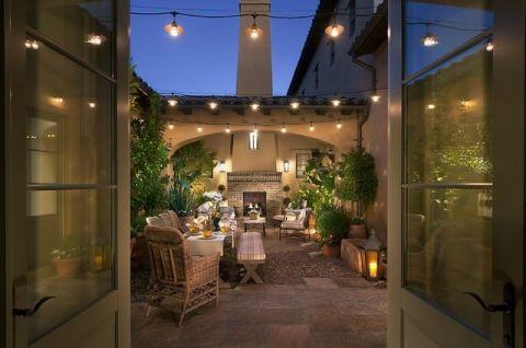 阳台细节美式风格装潢设计图片