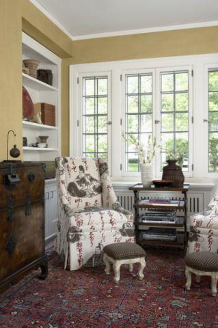 客厅窗台美式风格装饰效果图