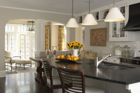 厨房黑色细节美式风格装饰图片