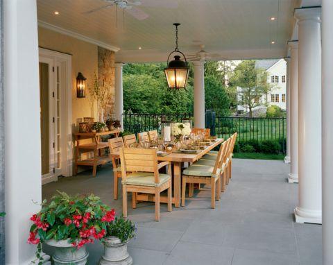 阳台绿色细节美式风格装修图片